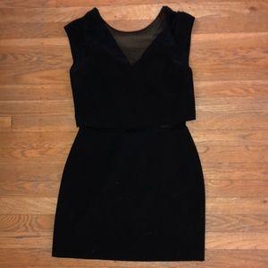 Express Party Dress- sheer mid- sz2